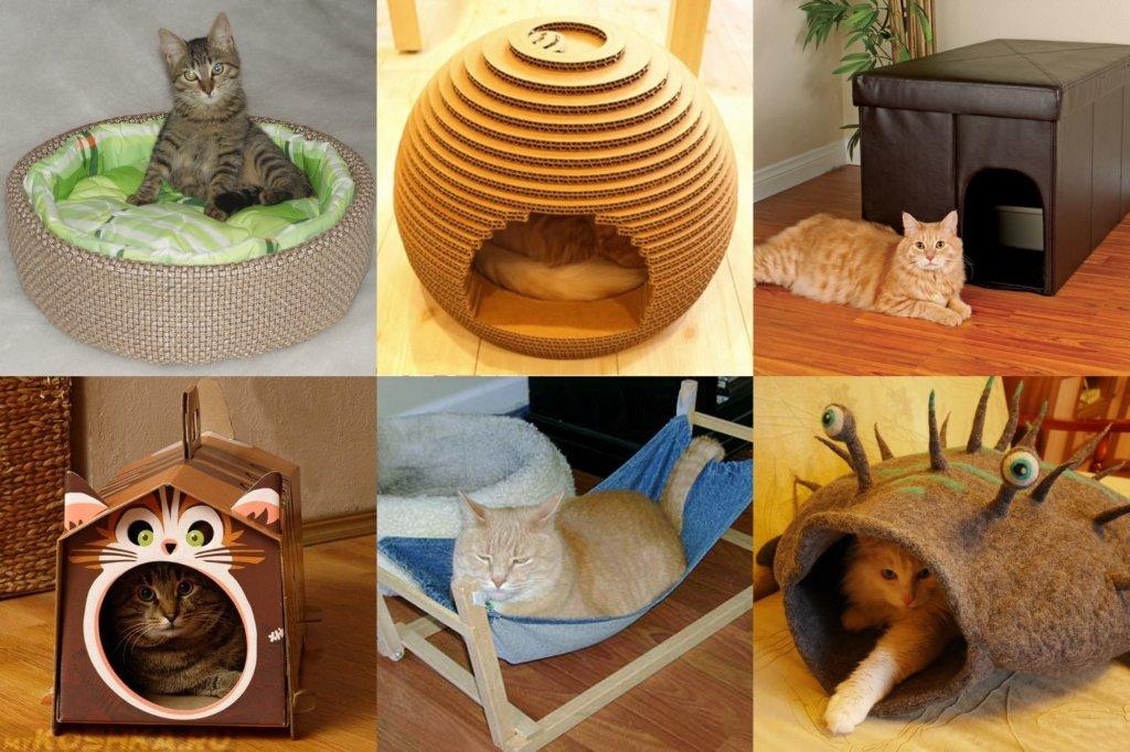 Виды домиков для кошки
