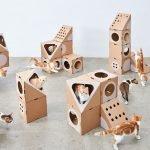Игровой комплекс из картона для кошки