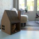 Домик для кошки из гофрированного картона