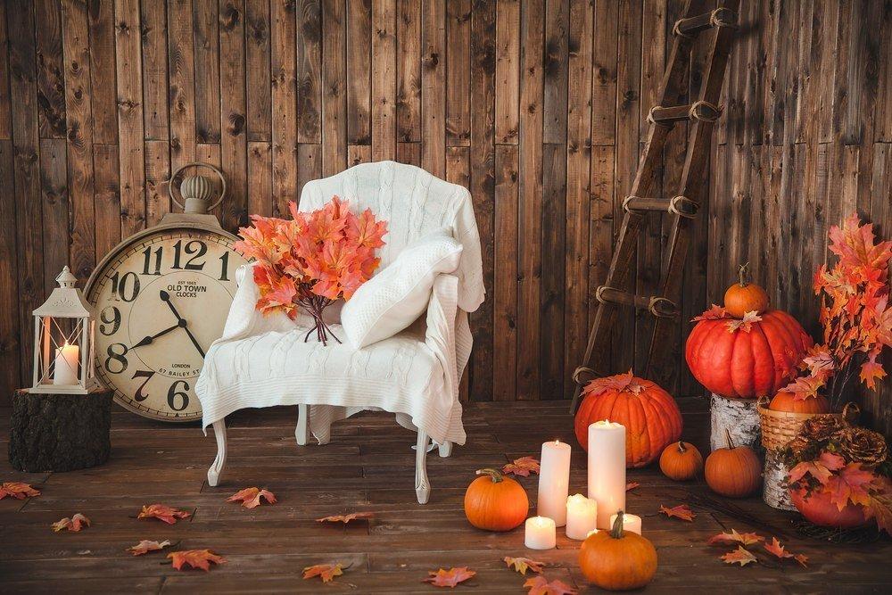 Осенняя тематика в фотостудии