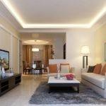 Освещение в гостиной без окон