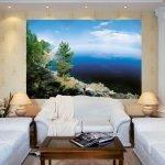 Фотообои в дизайне комнаты без окон