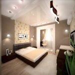 Освещение в большой спальне