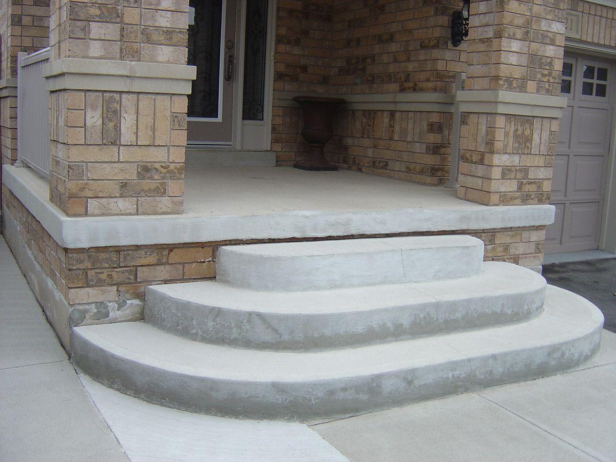 Крыльцо из бетона для частного дома фото