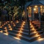 Светильники в ступеньках