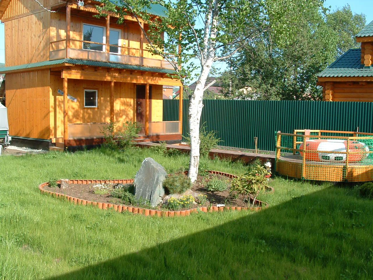 Расположение дома на узком участке