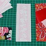 Сшиваем блоки при помощи полосок ткани