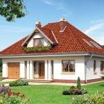 Дом с мансардой под четырехскатной крышей
