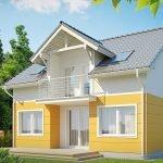 Балкон в доме с мансардой
