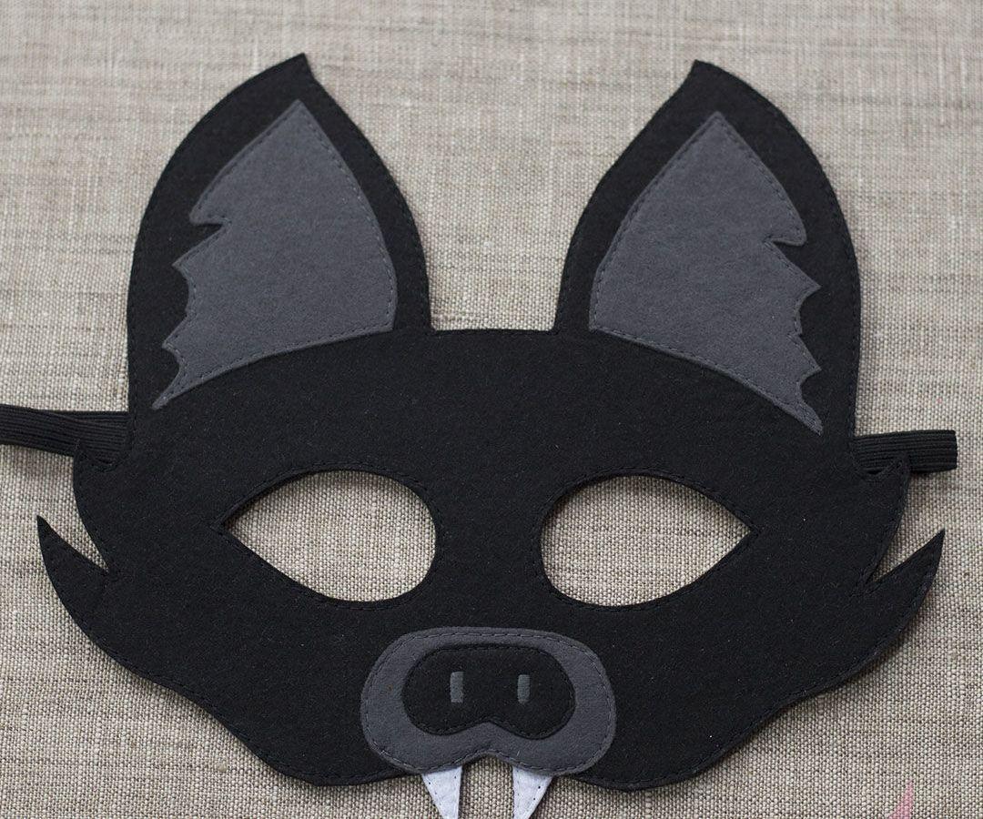 Маска на хэллоуин из фетра
