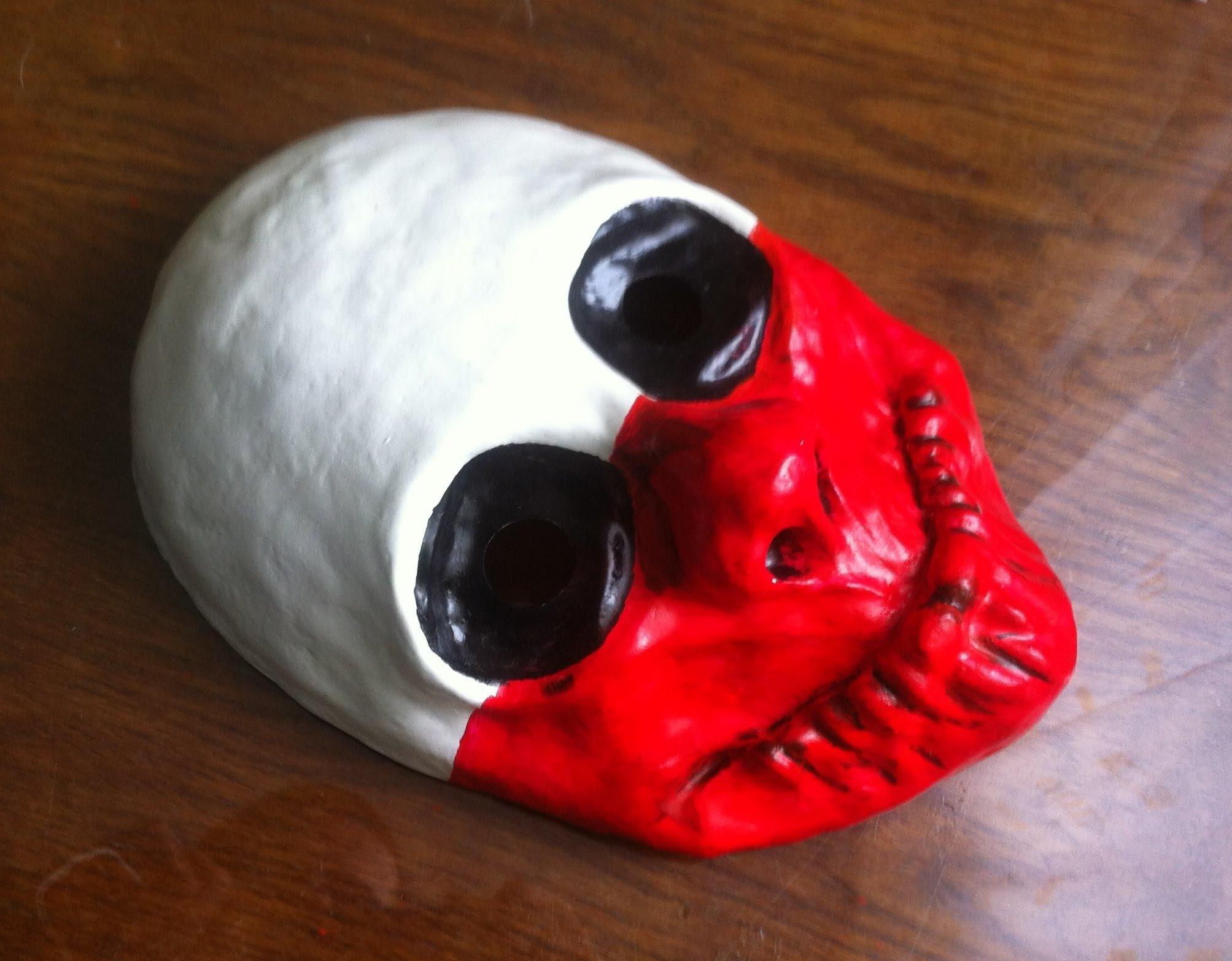 Маска на хэллоуин из глины