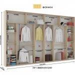 Вариант шкафа до 400 см. 2