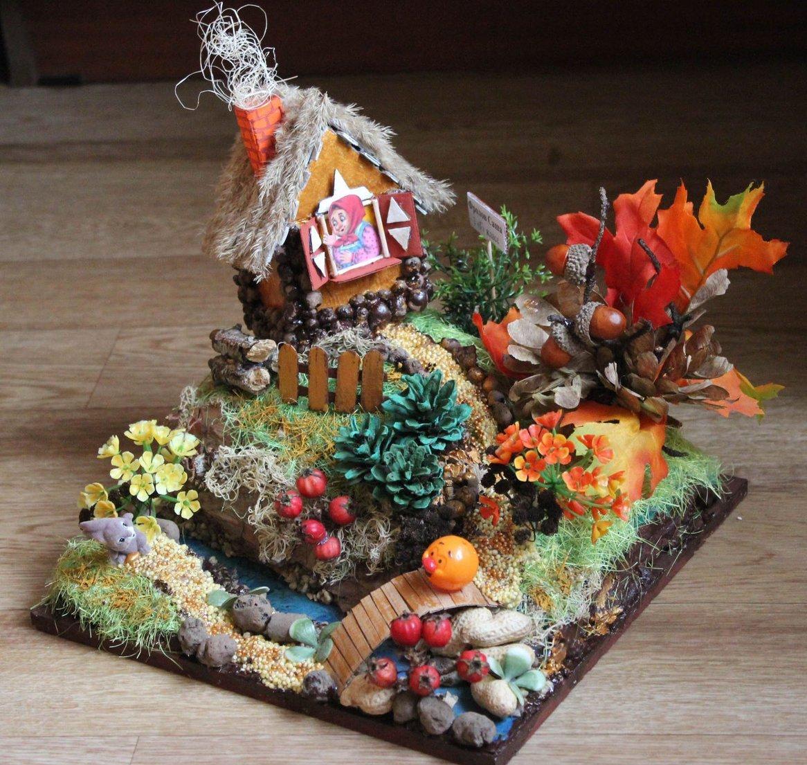 данной картинки поделок осень из природного материала стилизует картинки