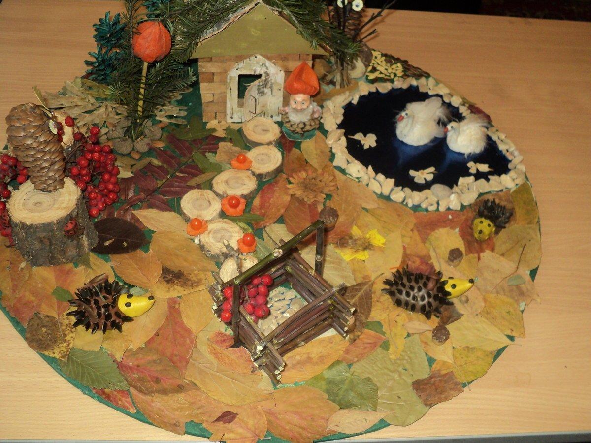 картинки поделок осень из природного материала всего она играет