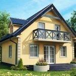 Проект дома с мансардной