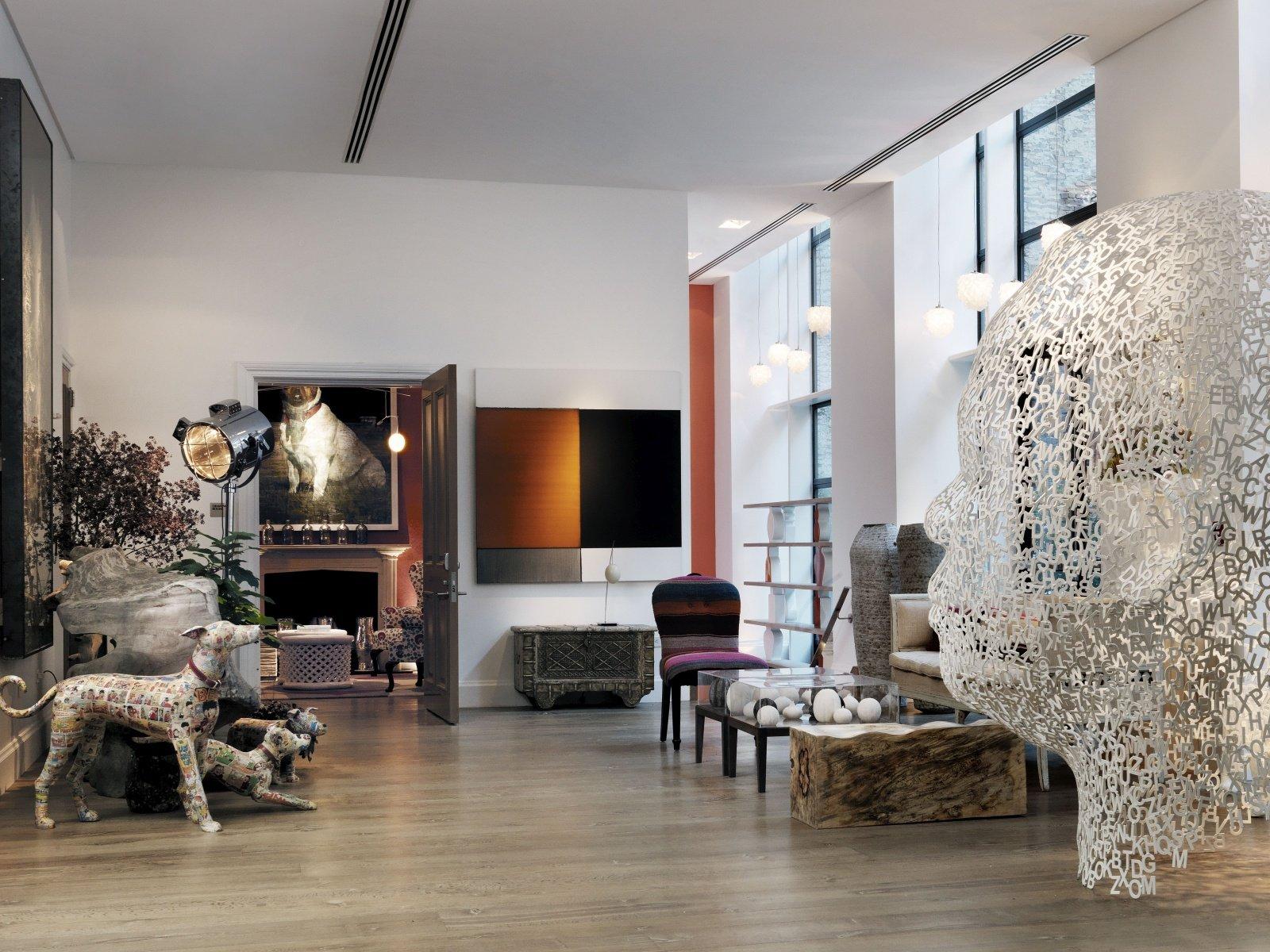 Скульптуры в интерьере в стиле модерн