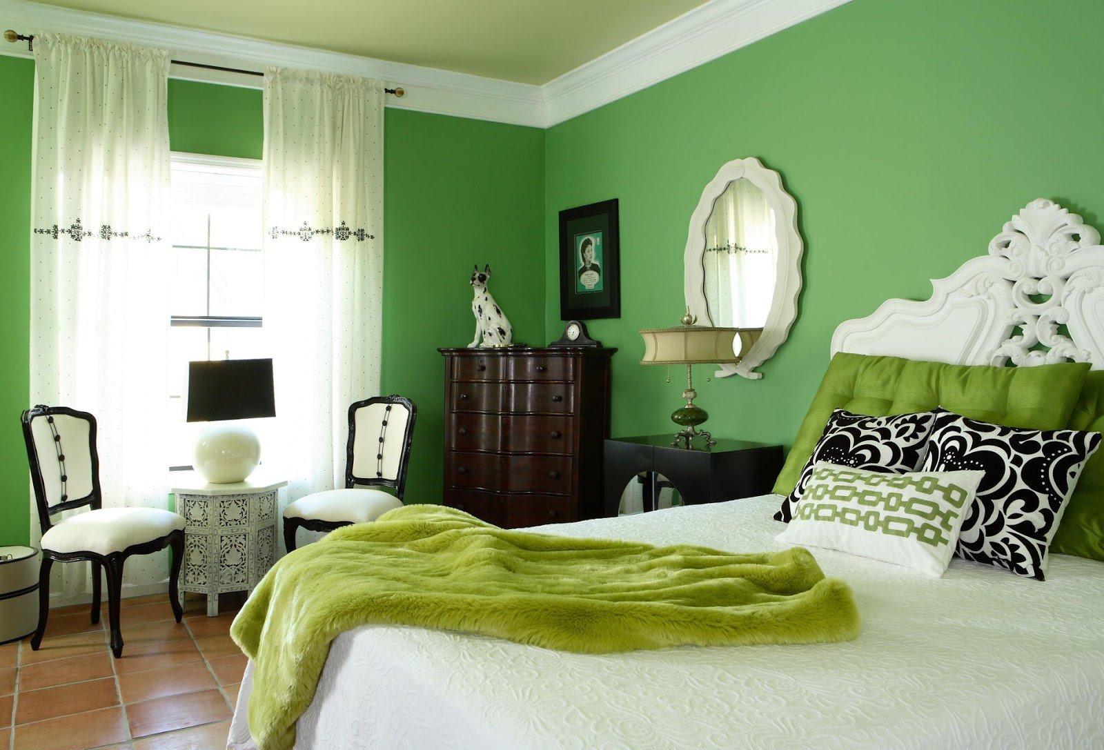Сочетание цветов в спальне