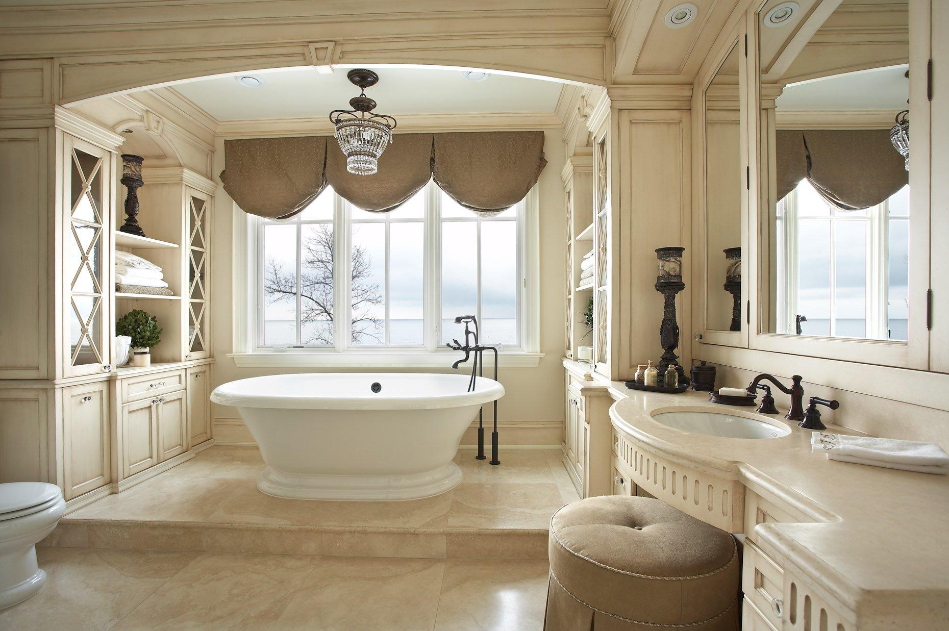 Стиль гламур в ванной комнате