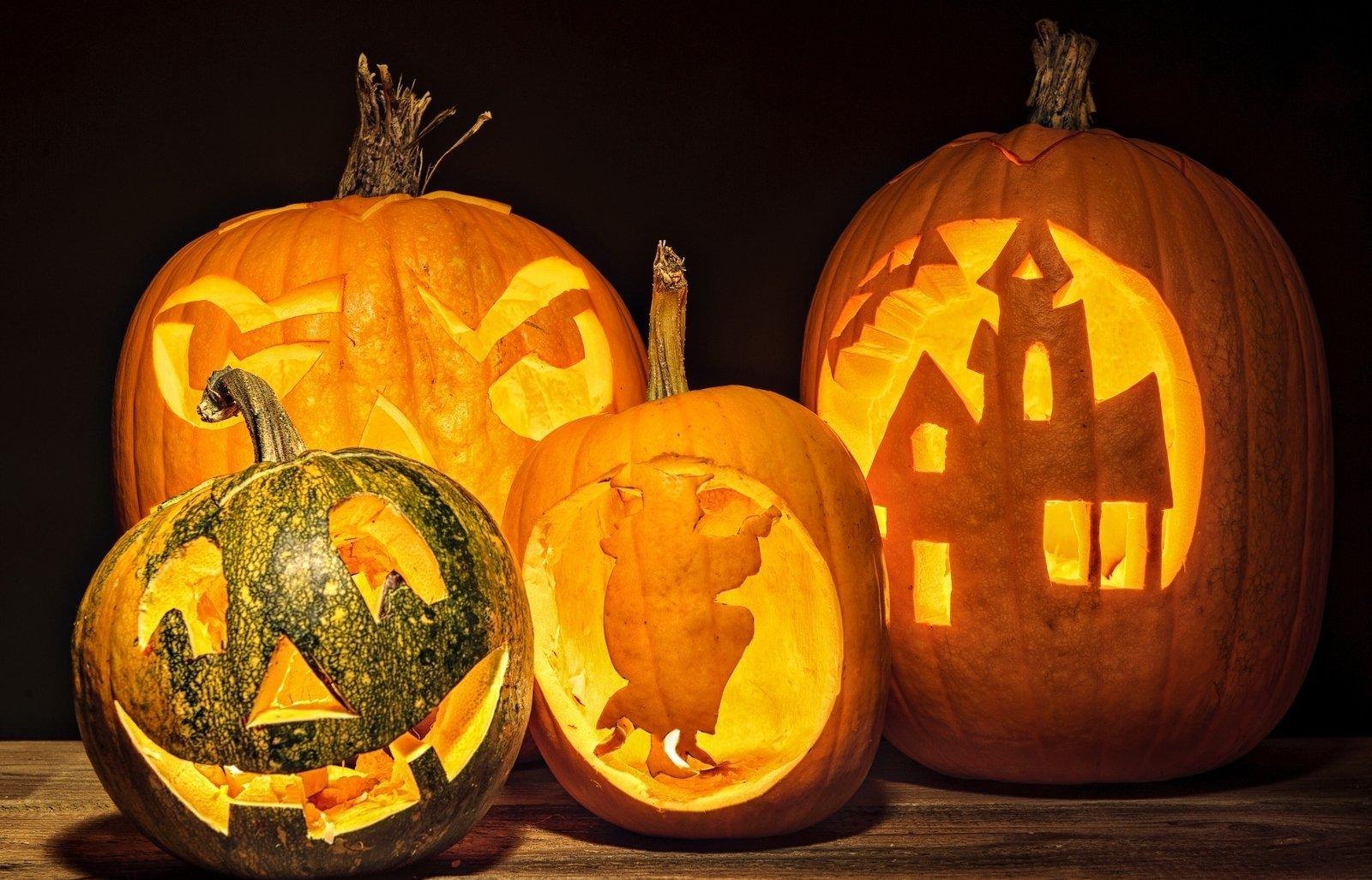 Тыквы на Хэллоуин