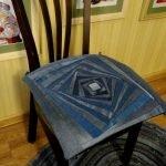 Сидушка на стул из джинсов