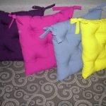 Разноцветные сидушки