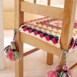 Вязанный чехол с завязками