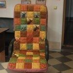 На офисное кресло в стиле печворк