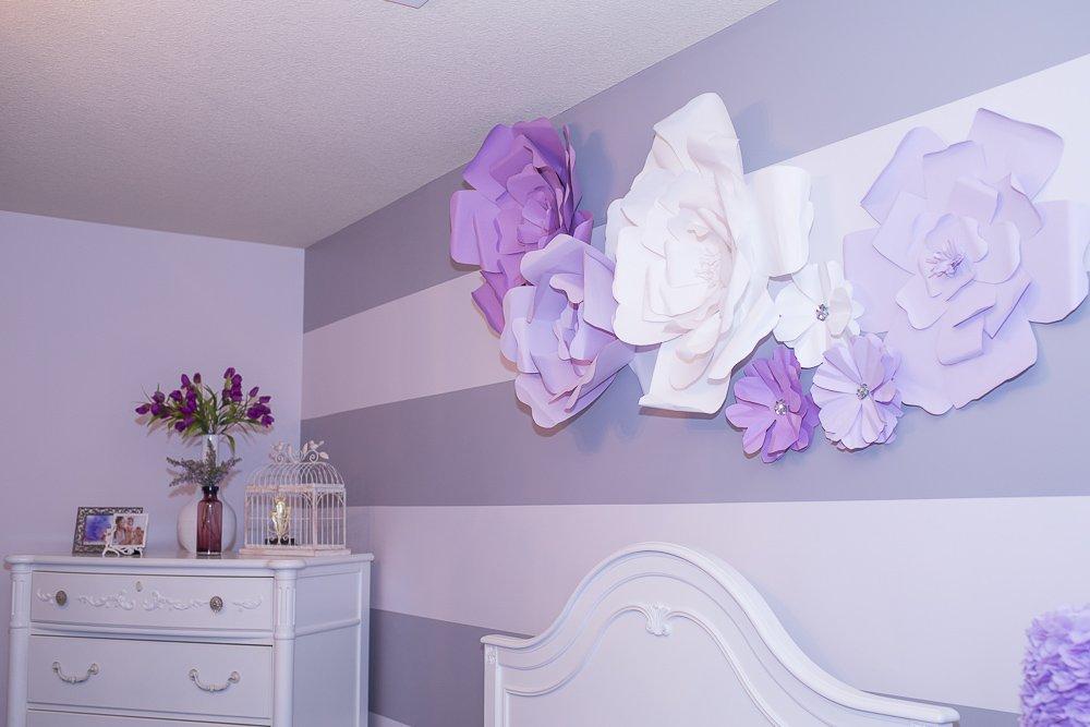 Цветы из бумаги в интерьере