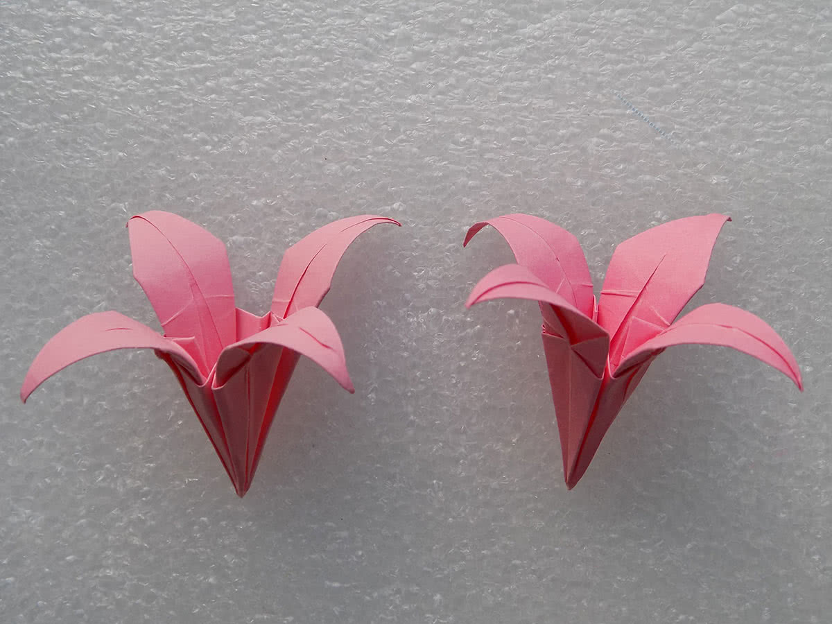 Бумажные цветы в технике оригами