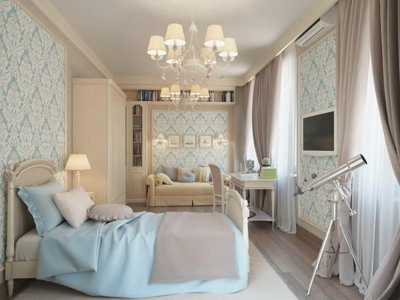 Спальня в нежных тонах