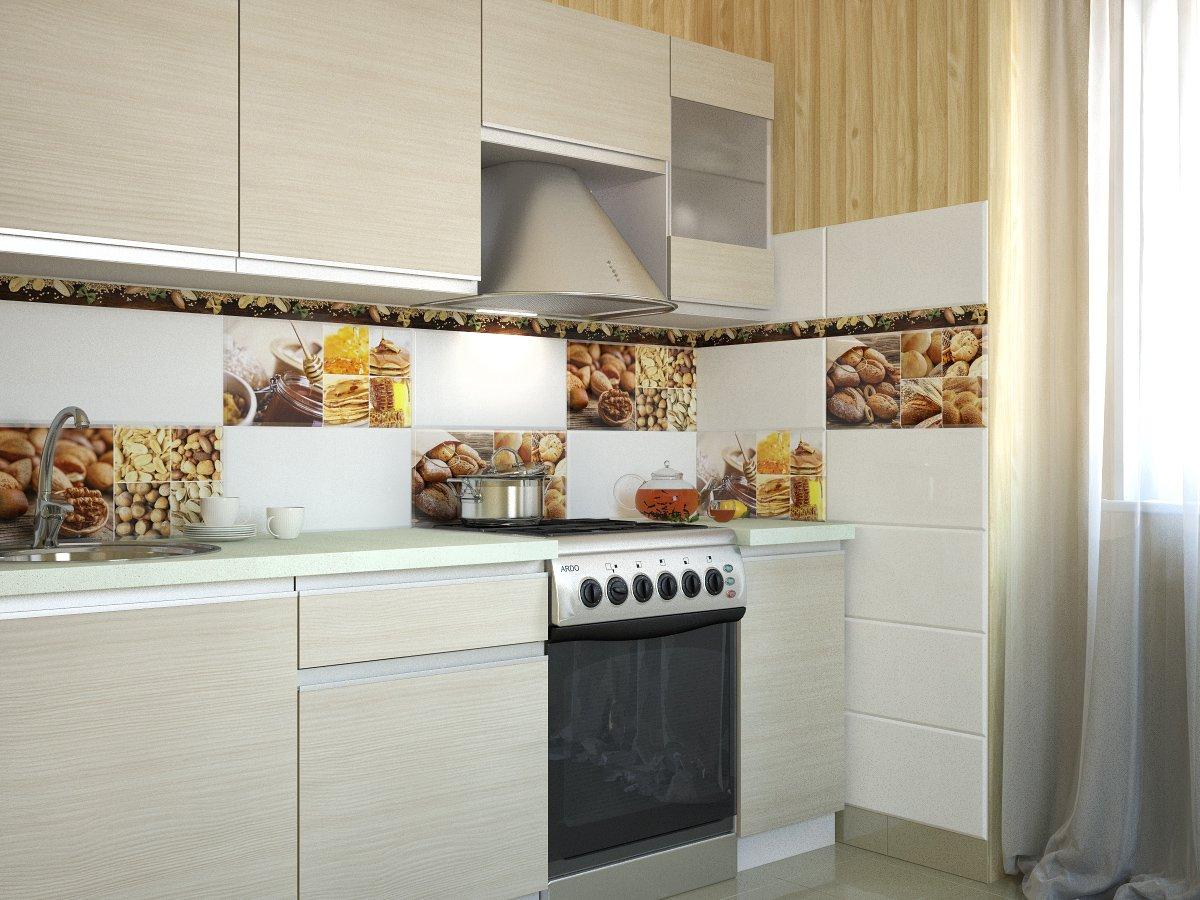 Фартук для кухни из плитки (test)