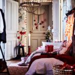 Новогодний декор в спальне