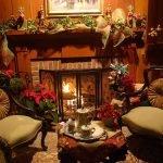 Новогодняя гостиная с камином