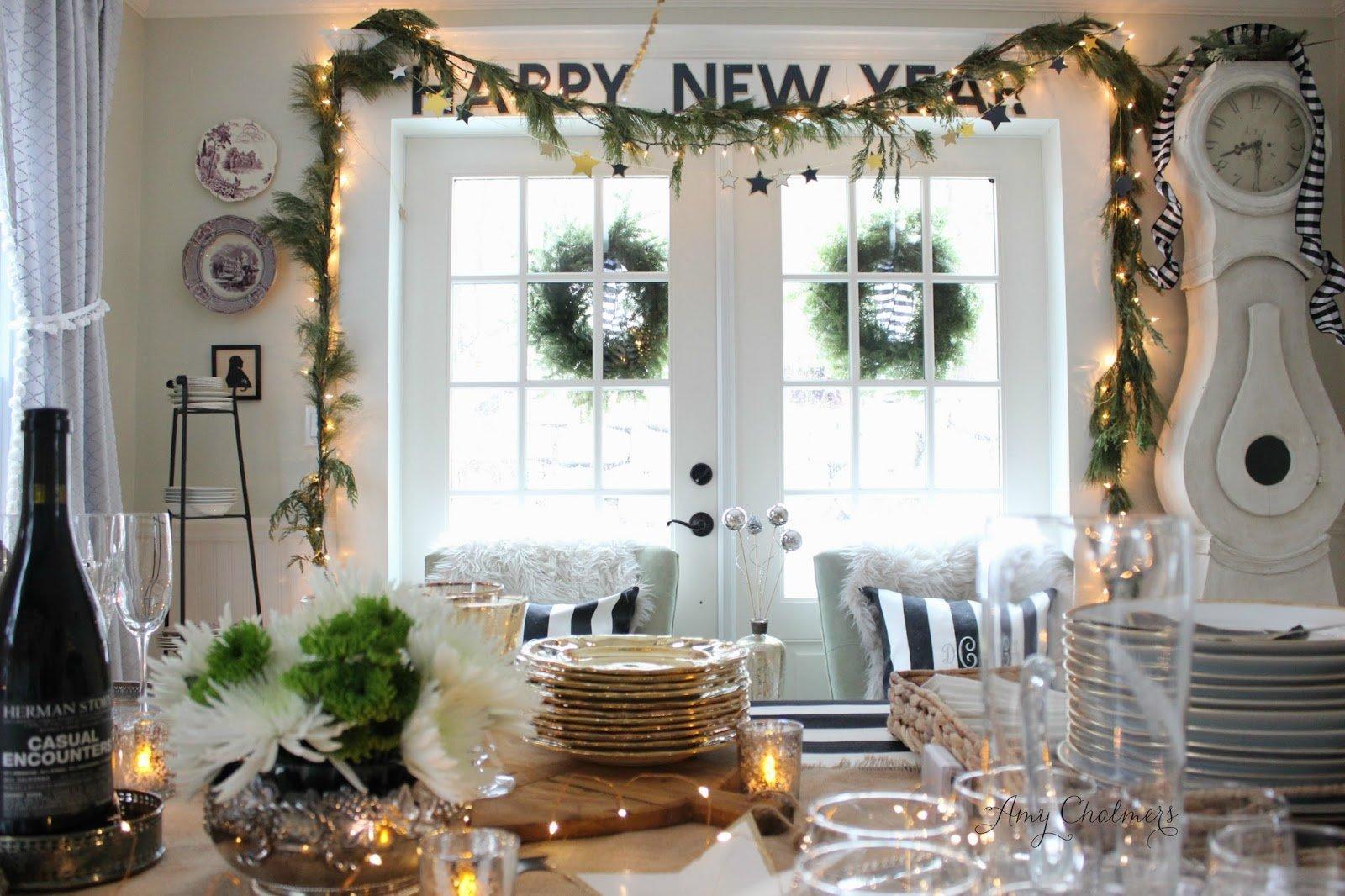 Декор окон на Новый год