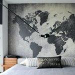 Карта мира на обоях