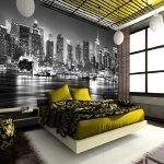 Фотобои в спальне