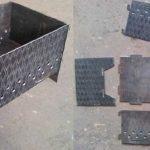 Разборной металлический мангал