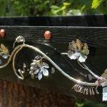 Декор мангала металлом