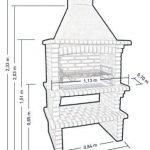 Схема кирпичного мангала 1