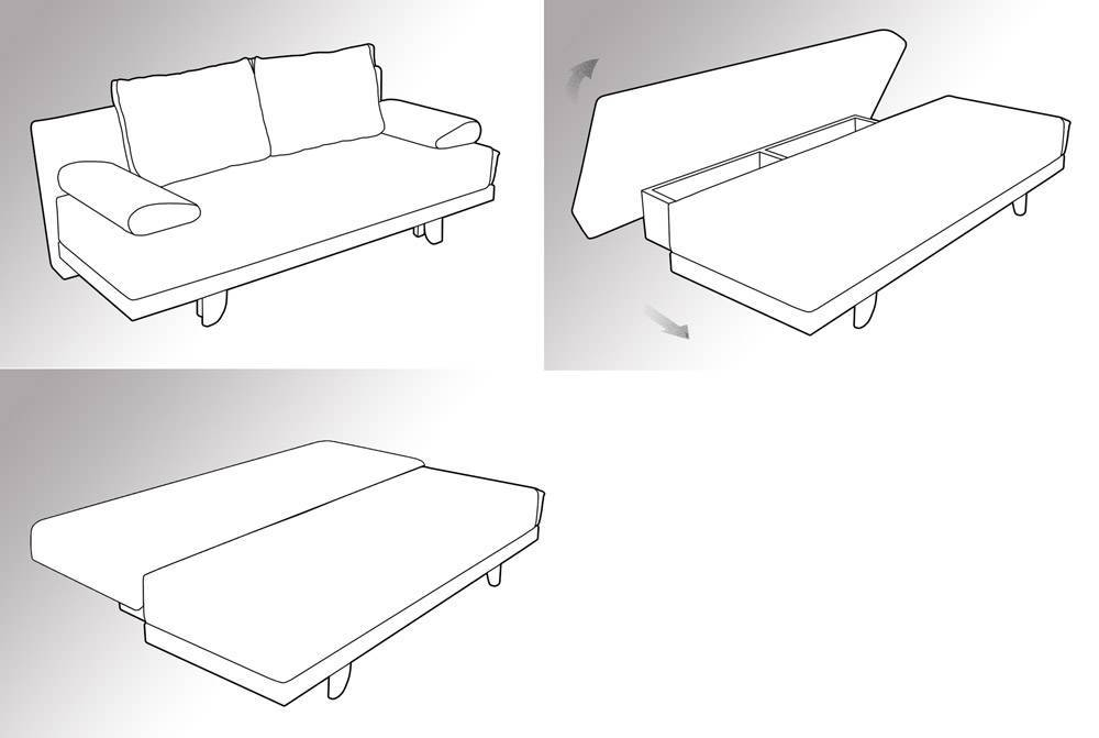 Схема раскладки дивана Еврокнижка
