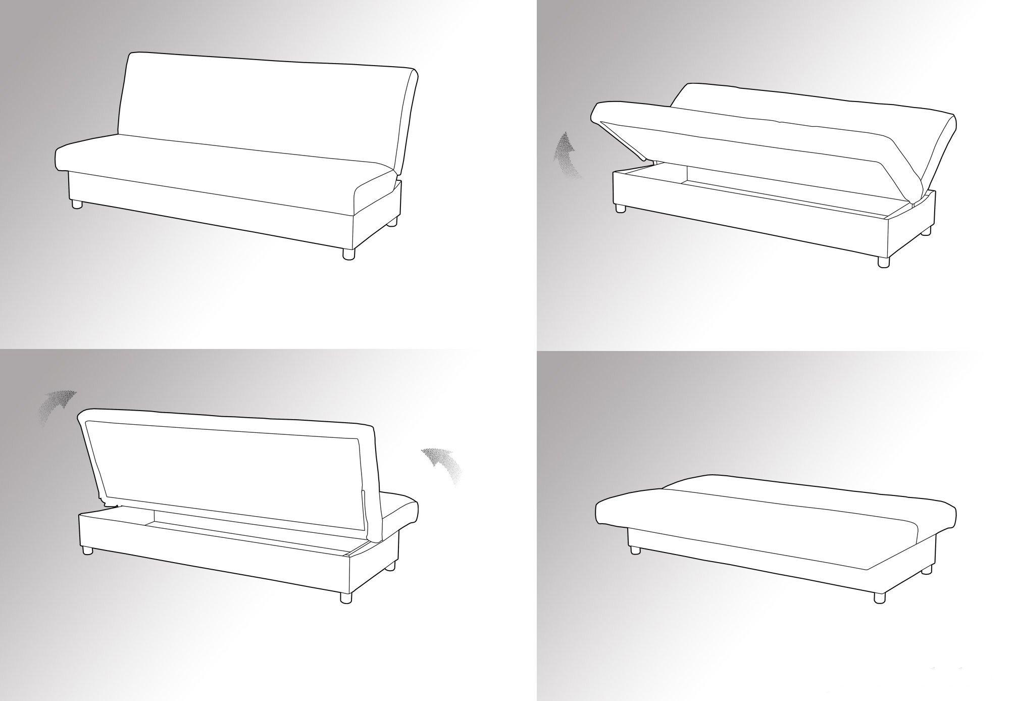 Схема раскладки дивана Книжка