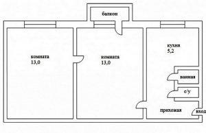 Варианты перепланировок хрущевок: 1, 2, 3 и 4-х комнатной