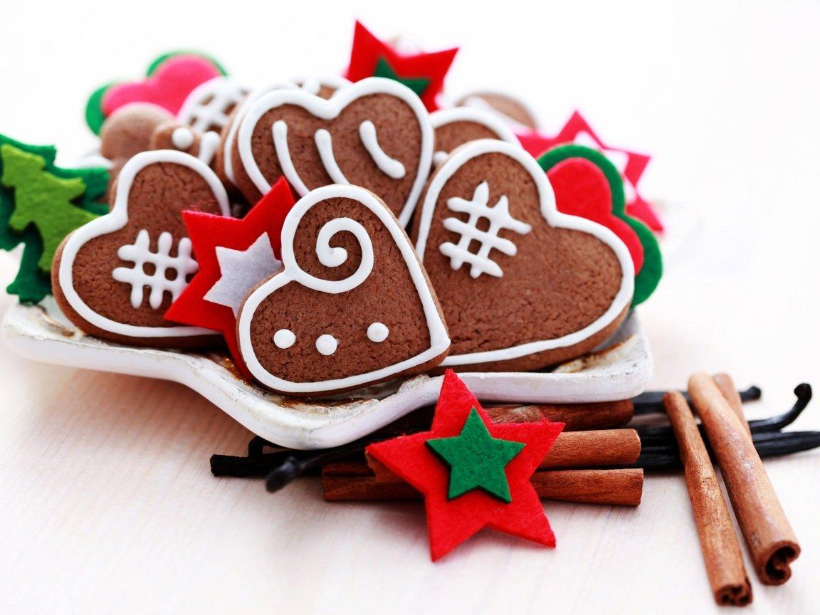 Печеньки в форме сердечек
