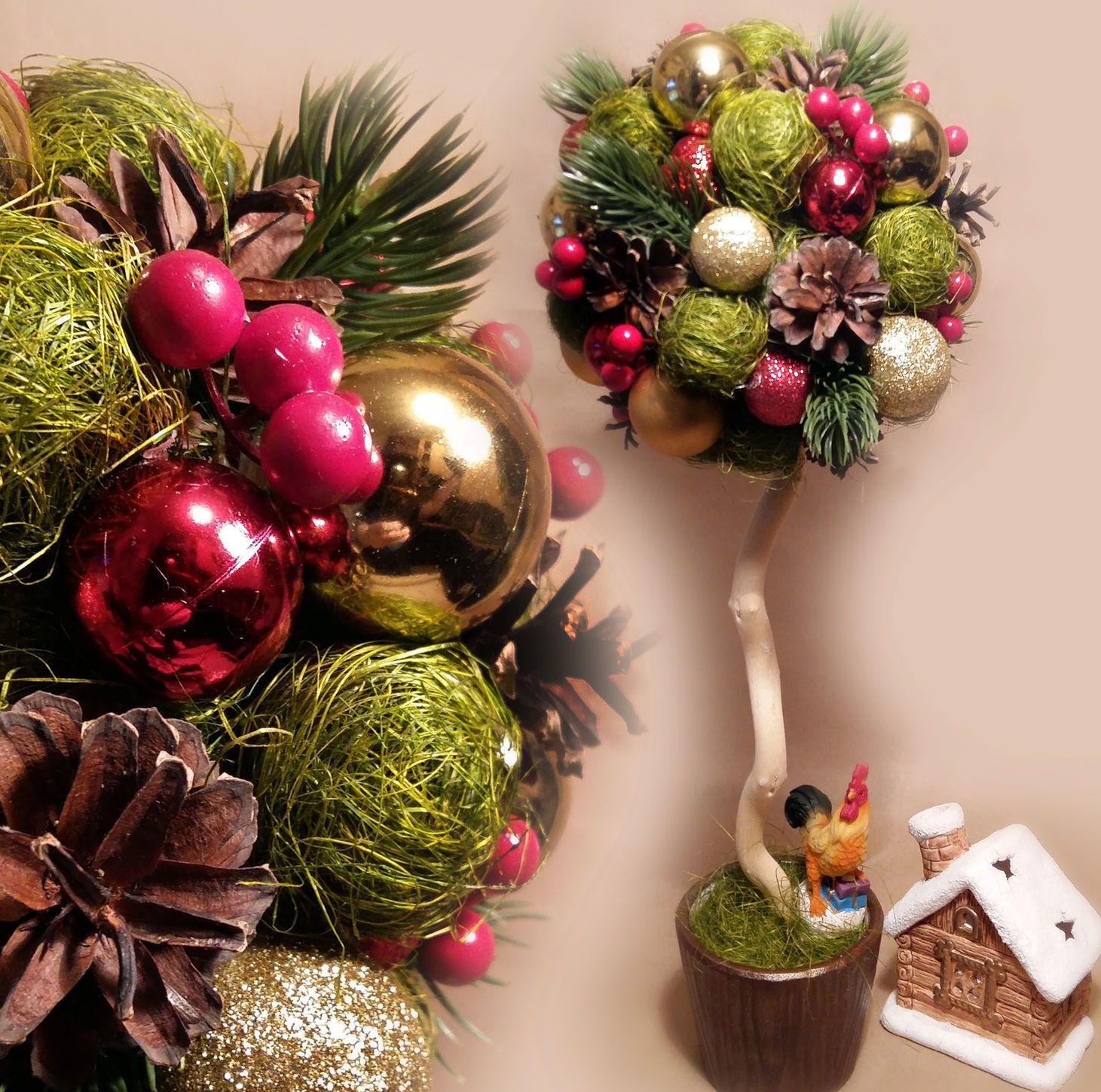 поделка новогоднее дерево