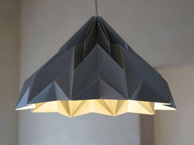 Люстра оригами из бумажных пакетов