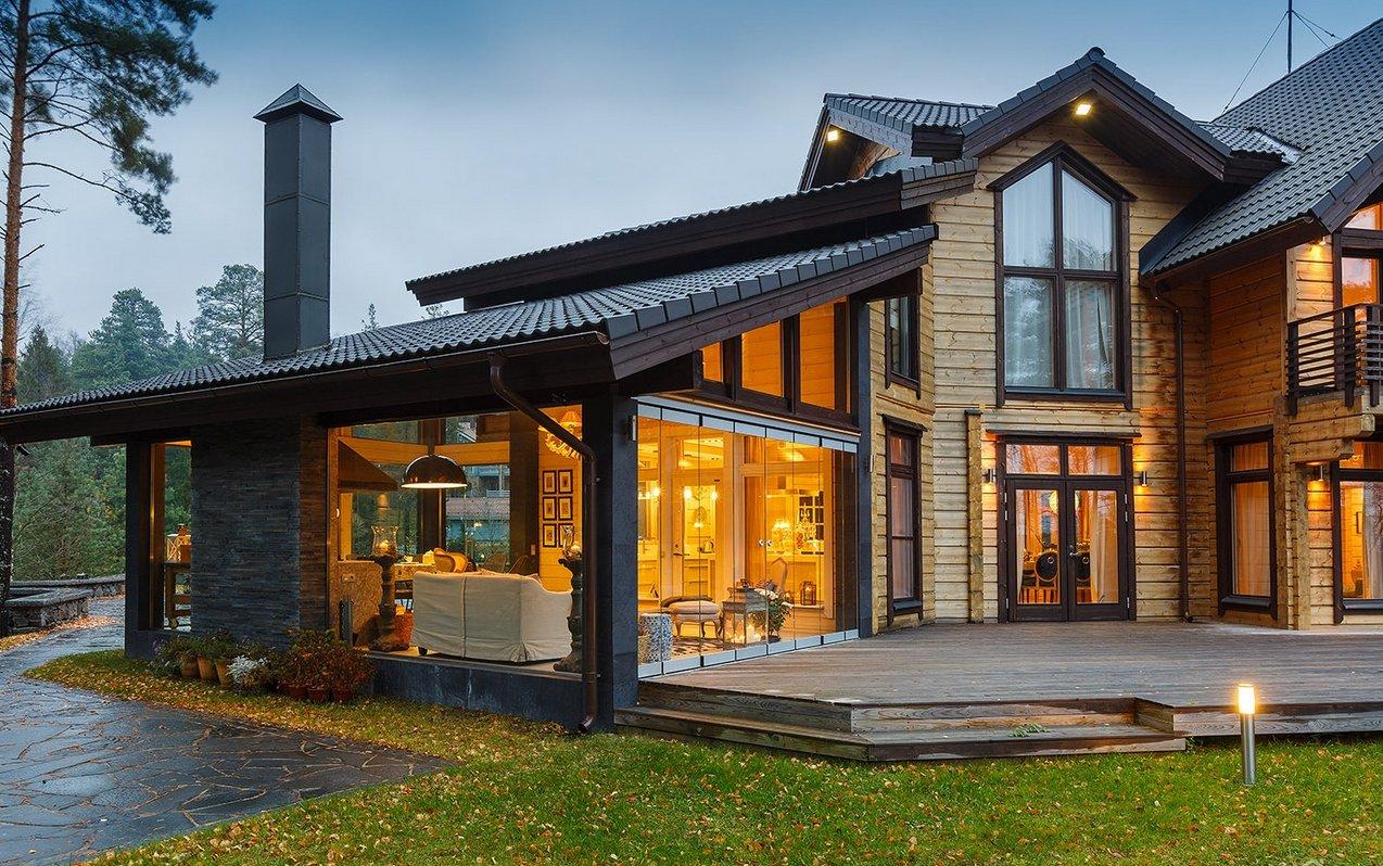 Современный готовый дом фото расклешенным кроем