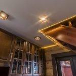 Натяжной потолок с диодами