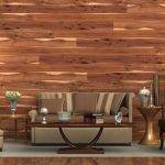 Комната с панелями из дерева на стене