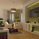 Дизайн интерьера в бежево-зеленых тонах фото
