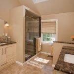 Дизайн интерьера бежевой ванной